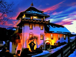 Das Romantik Hotel im Abendrot